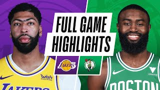 LAKERS at CELTICS | FULL GAME HIGHLIGHTS | January 30, 2021