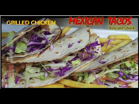 Delicious Mexican Grilled Chicken Tacos Recipe   Authentic  Mexican Tacos  (English Sub) Urdu /Hindi