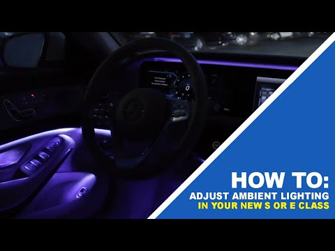How to adjust ambient lighting in your new 2018 mercedes for Knauz mercedes benz