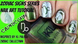 Stamping Nail Art Tutorial | Zodiac Signs Series Capricorn (inspired by KL Polish)✓
