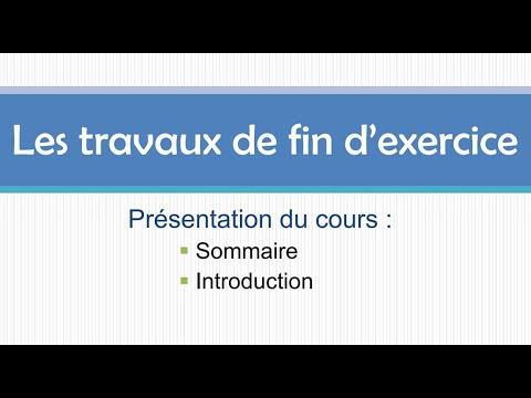 Présentation Du Cours : Travaux D'inventaire    بالدارجة المغربية