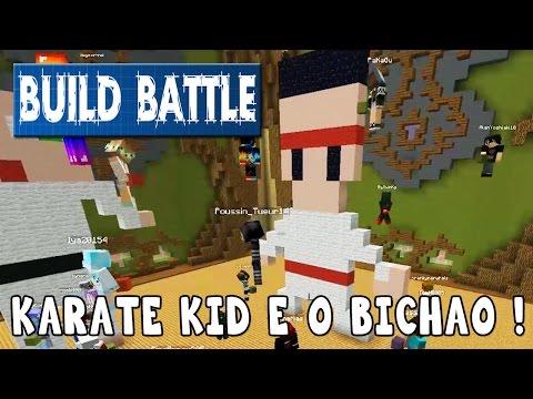 Minecraft Build Battle - Alan Miyagi e o Karatê perfeito !