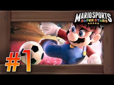 Mario Sports Superstars Walkthrough Part 1 | Soccer/Football Mushroom Cup 3DS Gameplay