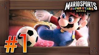 Mario Sports Superstars Walkthrough Part 1   Soccer/Football Mushroom Cup 3DS Gameplay