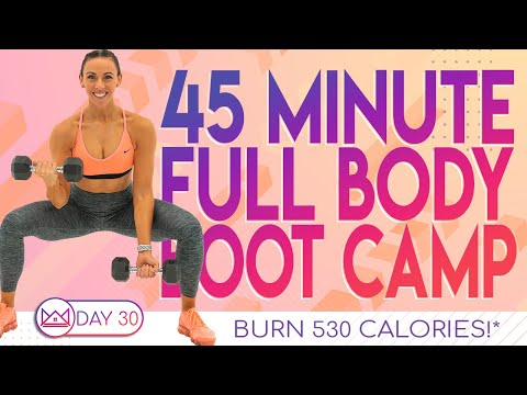 45 Minute Full Body Boot Camp Workout ��Burn 530 Calories ��30 Day At-Home Workout Challenge | Day 30
