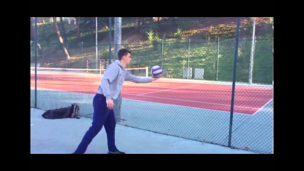 Saque De Abajo Voleibol Youtube