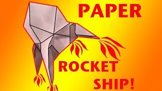 How To Make A Paper Rocket Ship - Origami