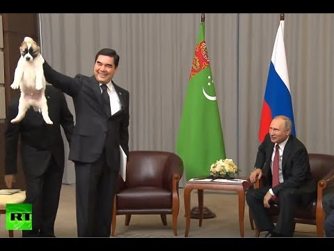 "Putin Gets a New Puppy ""Faithful"" From Turkmenistan President"