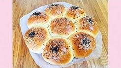 Türkisches Blumenbrot / Cicek Ekmek / Cicek Pogaca / Selbstgemachtes Brot
