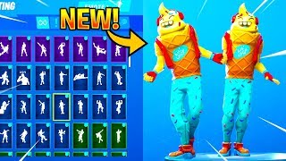 *NEW* ICE CREAM Skin Showcase With Dance Emotes! Fortnite Battle Royale