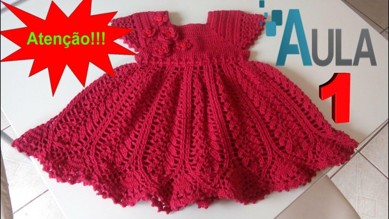 5fd3672c16b6 Vestido de Crochê Com Simone Lemos AULA # 1 - YouTube