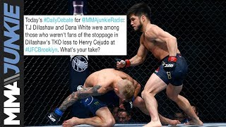 Daily Debate: Was the Henry Cejudo - T.J. Dillashaw stoppage early?