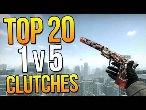 Top 20 1v5 Clutches Ever By Pro Players ★ CS:GO