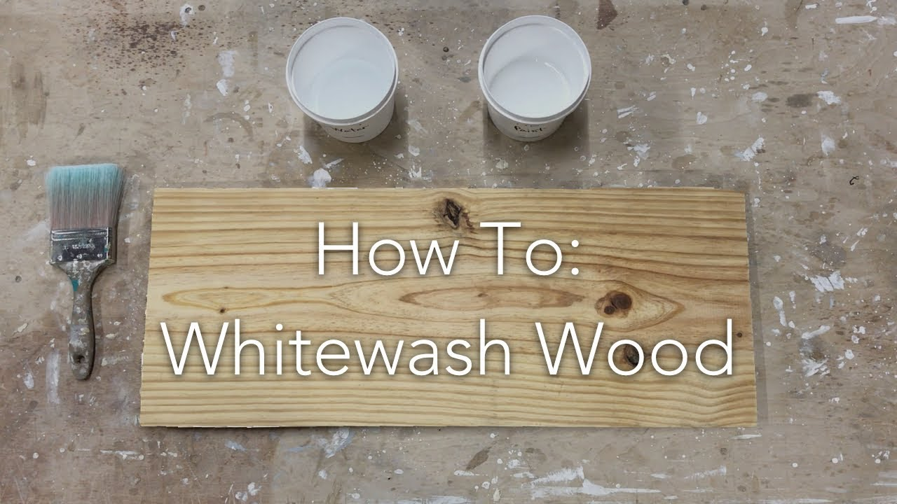 How To Whitewash Wood Youtube
