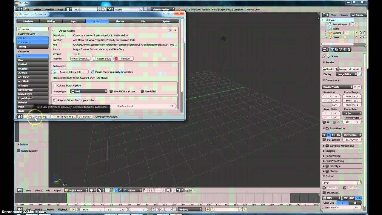 Taking avatar from secondlife into blender(with avastar)