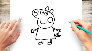 How to Draw Peppa Pig Step by Step