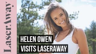 Helen Owen Gets Laser Hair Removal On Her Legs At LaserAway