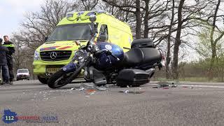 Motorrijder ziet afslaande auto over het hoofd in Winterswijk