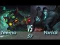 League of Legends - Omega Teemo vs Yorick - S7 Ranked Gameplay (Season 7)