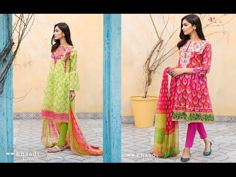 83caa5290e Lates Khaadi Lawn Vol 2 3 piece Summer Collection 2017 - YouTube
