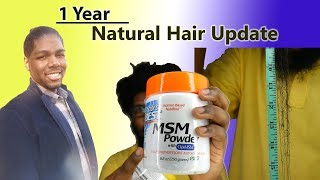 1 Year Men's Natural Hair Update - Lessons Learned, Hair Growth Tips, Length Check & more!