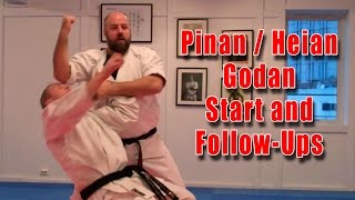 Practical Kata Bunkai: Pinan / Heian Godan Start and Various Follow-Ups