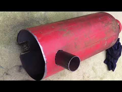 Gas Bottle Rocket Stove Space Heater