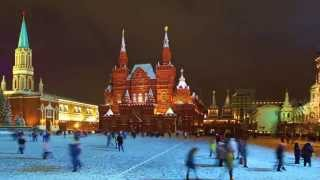 Best of Moscow in winter, New Year, Christmas time.