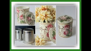 Lata Decorada com Decoupage Estilo Vintage – Técnicas Decorativas