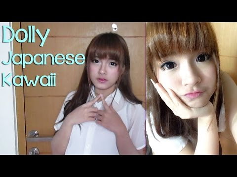 Semi-Dolly (Japanese Kawaii) Make Up Look Tutorial - Donna Visca