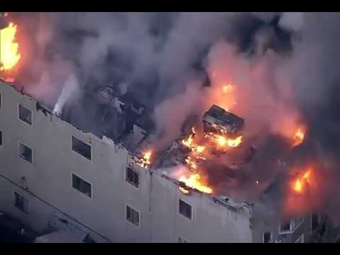 Firefighters are battling a massive four-alarm fire in Oakland, California | firefighting