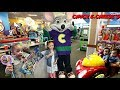 Chuck E Cheese Family Fun! Kids Indoor Play Area and Arcade Games Challenge