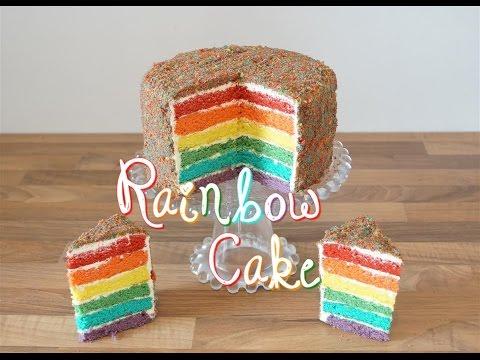 rainbow-cake-la-recette-|-how-to-decorate-a-rainbow-cake
