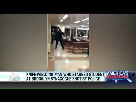 Man who stabbed student at NYC synagogue shot by police