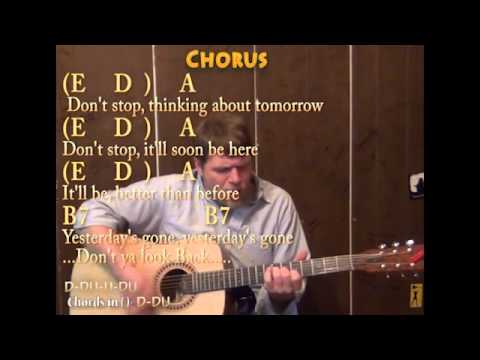 Don\'t Stop (Fleetwood Mac) Guitar Cover Lesson with Chords and ...