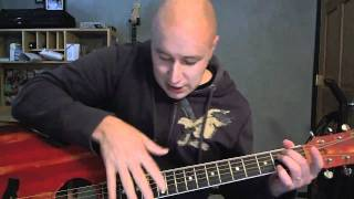Cool Harmonic Slapping Tutorial for Guitar- (Todd Downing)