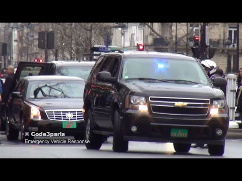 American Embassy Motorcade VIP Paris
