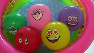Разноцветные шарики  Учим цвета Развивающее видео для детей Семья пальчиков на русском языке