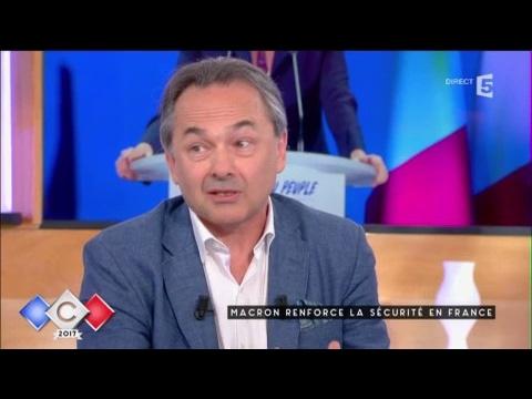 Macron renforce la sécurité en France - C à vous - 23/05/2017