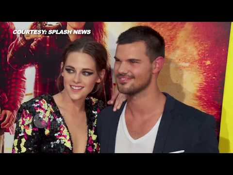 (VIDEO) Kristen Stewart - Taylor Lautner HOT COUPLE At The American Ultra Premiere