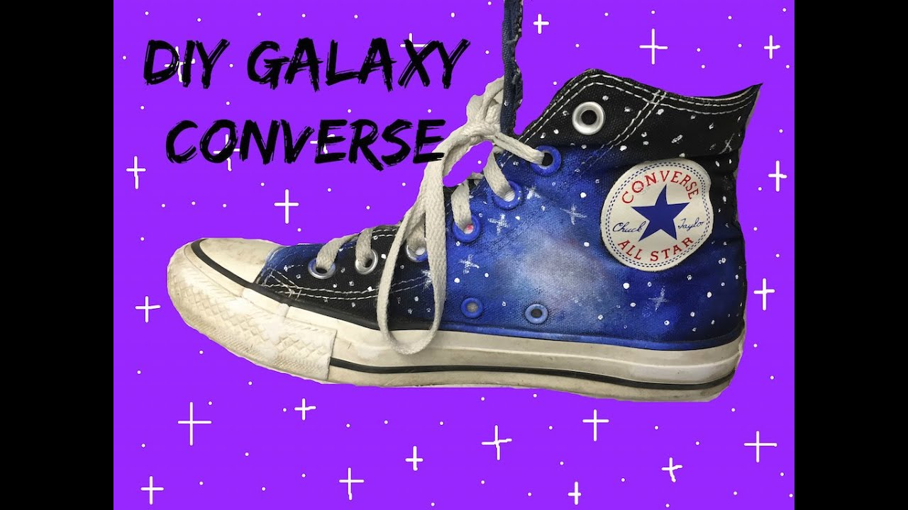 bd8f5ff8d519 DIY Galaxy Converse! - YouTube