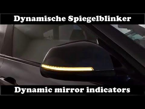 BMW 3er F30 F31 F34 GT   Dynamische Spiegelblinker   dynamic mirror indicators   LED Laufblinker