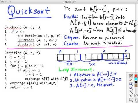 Topic 10 A Quicksort