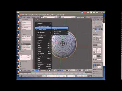Blender Beginners 2 - a First Look at Blender -simple ufo model - Blender 2.7 101