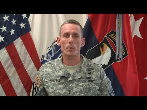 Major General Volesky accepts Power of One award