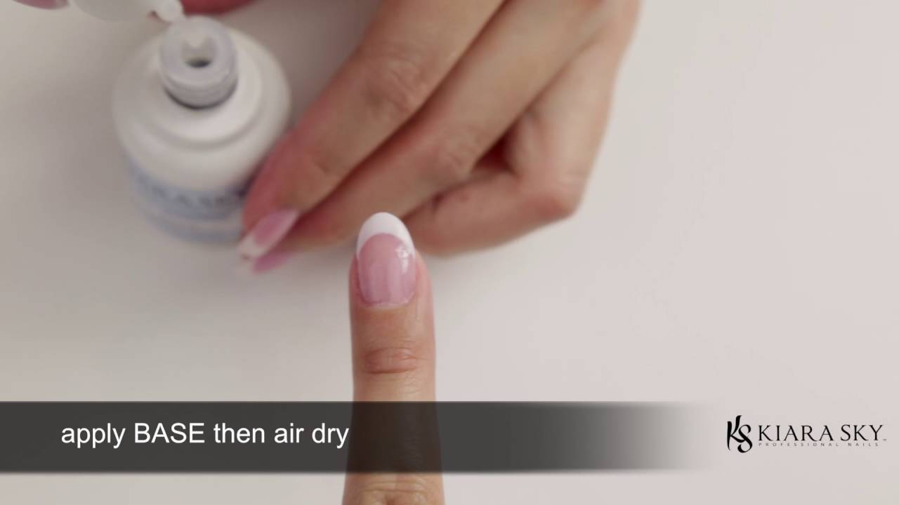 Dip Powder Nails: Perfect French Tip on Natural Nails - YouTube