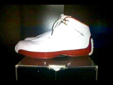 d0bd1b0bd93 NIKE AIR JORDAN 18 (WHITE/ VARSITY RED) 2003 - YouTube