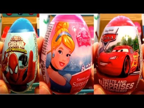 Thumbnail: Cars Spiderman Minions Avengers 36 Kinder Surprise Lightning McQueen
