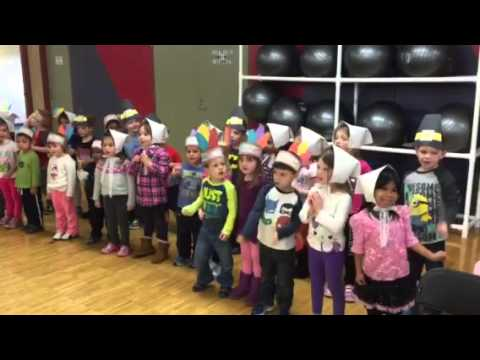 "Bright Beginnings Preschool students sing ""The Pilgrims are Coming"""