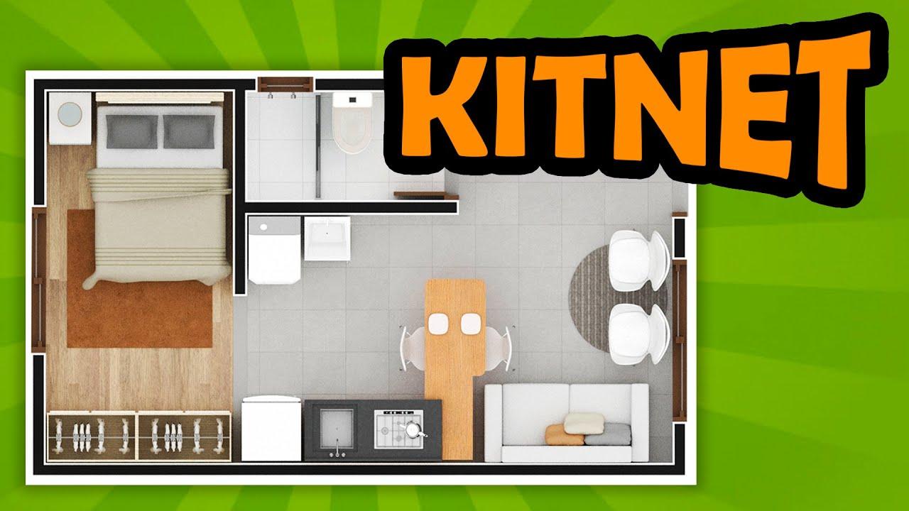 Download PLANTAS BAIXAS: KITNET pequena decorada ( KITNET 6x4 )